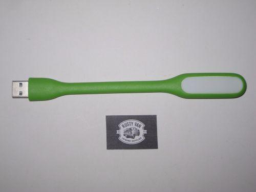 Green Flexible USB Light.