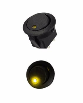 Rocker Switch 10A Amber LED