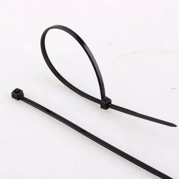 200mm x 4.8mm Cable Ties Black x 100