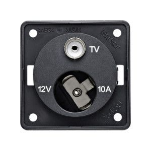 Berker 12v + TV Socket