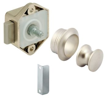 Hafele Matt Nickel Mini Push Lock Kit