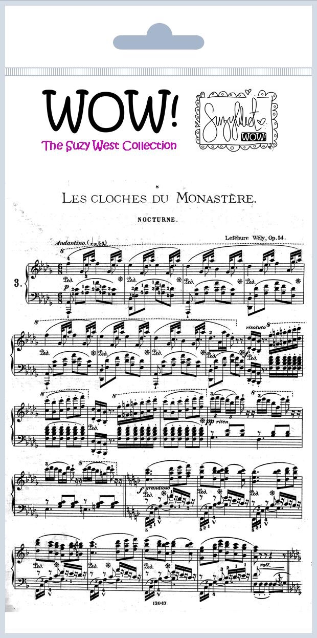 SW French music - Clear background stamp