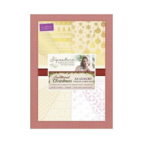 Traditional Christmas A4 Luxury Foiled Card Pad