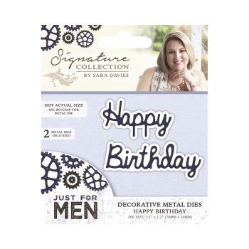 Just For Men Metal Die - Happy birthday