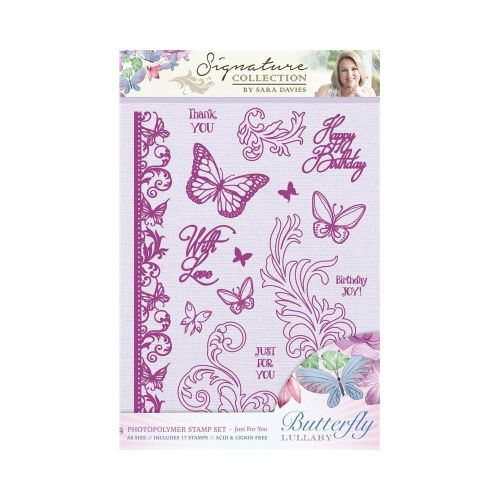 Butterfly Lullaby Photopolymer A6 Stamp Set - Just for You