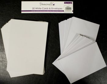 Dovecraft C6 Rectangular Cards and Envelopes (50 pack)