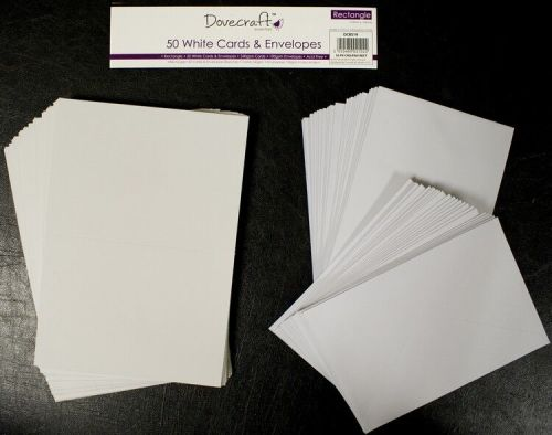 Dovecraft Rectangular Cards and Envelopes, 50 blank cards