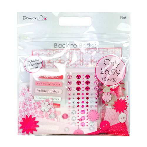 Dovecraft Back To Basics Goody Bag - Pink