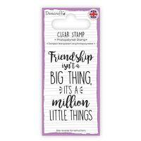 Dovecraft Clear Sentiment Stamp - Friendship