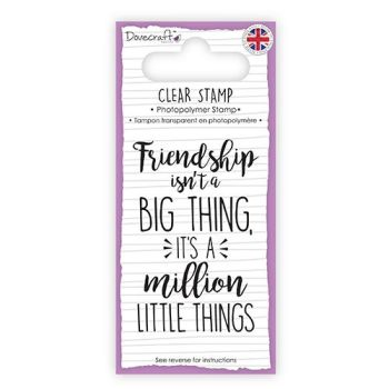 Dovecraft Clear Sentiment Stamp - Friendship