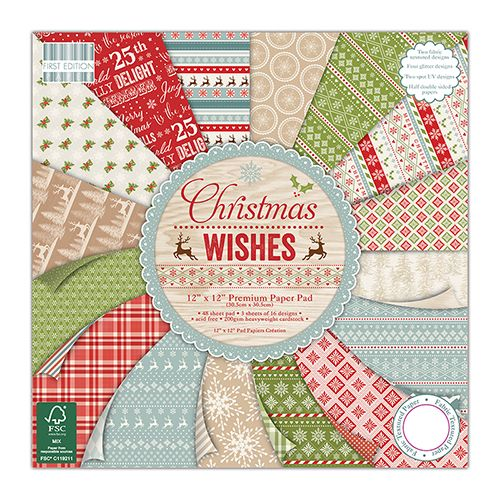 First Edition 6x6 Paper Pad Christmas Wishes