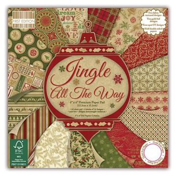 First Edition 6x6 Paper Pad Jingle All the Way