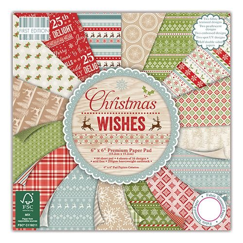 First Edition 12x12 Paper Pad Christmas Wishes
