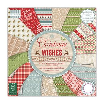First Edition 8x8 Paper Pad Christmas Wishes