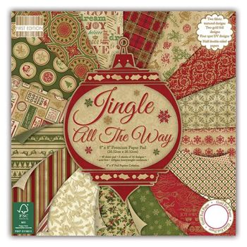 First Edition 8x8 Paper Pad Jingle all the way