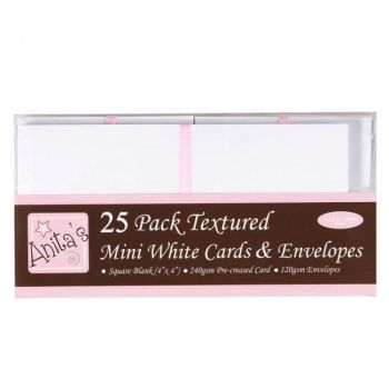 "4x4"" Cards & Envelopes White (25 Pack)"