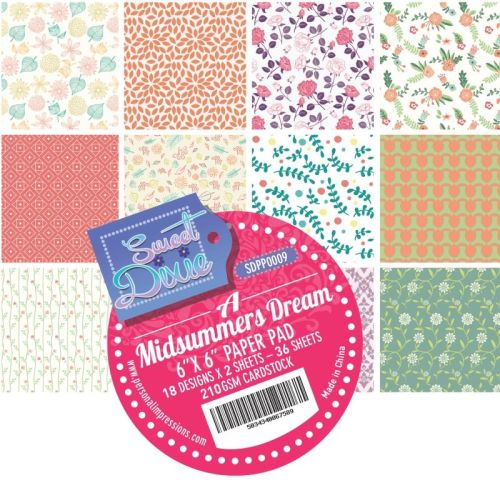 Sweet dixie - A Midsummers Dream 6x6 Cardstock Pad
