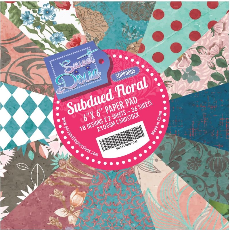 Sweet dixie - Subdued floral 6x6 Cardstock Pad
