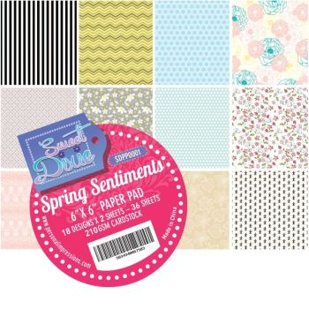 Sweet dixie - Spring Sentiments 6x6 Cardstock Pad
