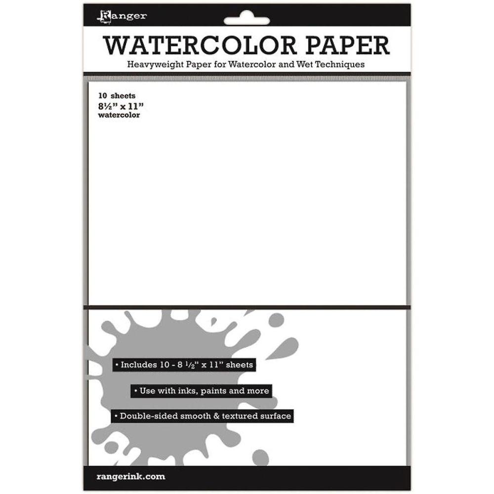 Ranger Surfaces Watercolor Paper 10 Pack 8.5