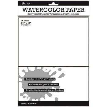 "Ranger Surfaces Watercolor Paper 10 Pack 8.5""X11"""