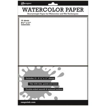 "Ranger Surfaces Watercolor Paper 10 Pack 8.5""X11"""