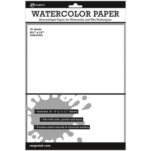 Ranger Surfaces Watercolor Paper 10 Pack 8.5