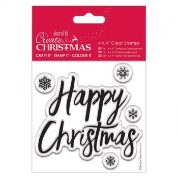 "4x4"" Clear Stamp - Happy Christmas"