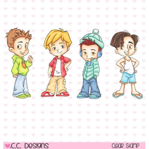 Roberto's Rascals Cling Stamp - 4 Seasons Boys