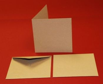 "6x6"" Cards & Envelopes Kraft (50 Pack)"