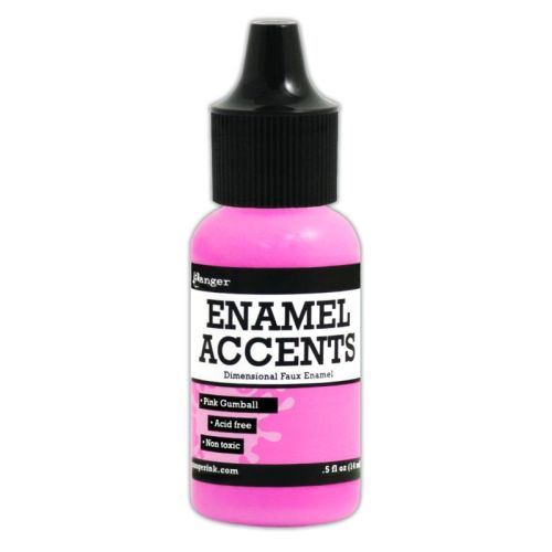 Enamel Accents -Pink Gumball