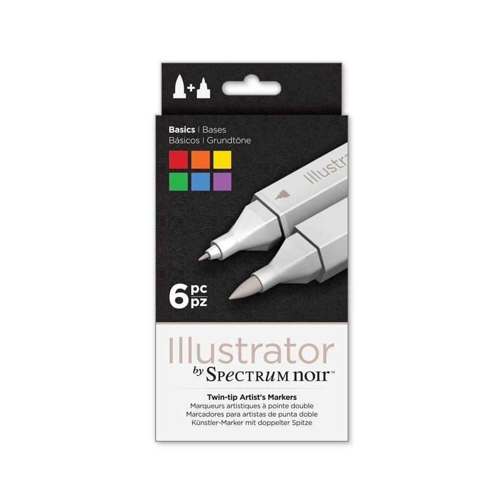 Spectrum Noir Illustrator 6pk - Basics