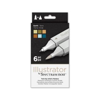 Spectrum Noir Illustrator 6pk - Earth