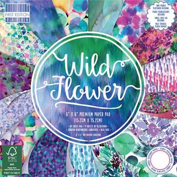 ***NEW*** First Edition 6x6 FSC Paper Pad Wild Flower