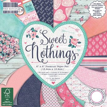 ***NEW*** First Edition 6x6 FSC Paper Pad Sweet nothings