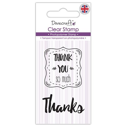 Dovecraft Clear Stamp - Thank You