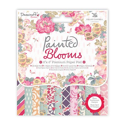 ****NEW****Dovecraft Painted Blooms 6x6 Paper Pad