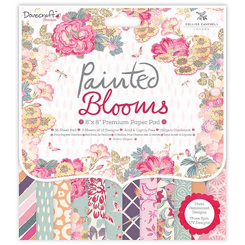 ****NEW****Dovecraft Painted Blooms 8x8 Paper Pad