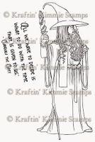 Gandalf - Kraftin' Kimmie stamp