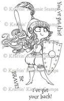 Kiersten the knight - Kraftin' Kimmie stamp