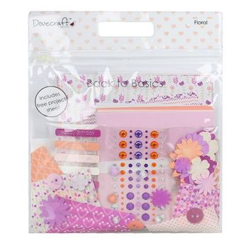 Dovecraft Back To Basics Goody Bag - Floral Purple