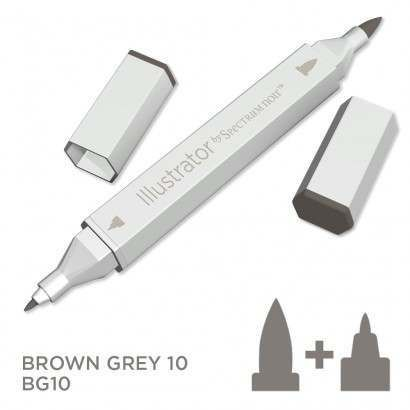 Spectrum noir Illustrator pen BG10- Brown Grey 10