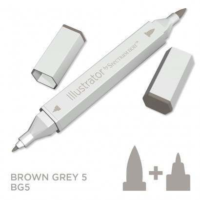 Spectrum noir Illustrator pen BG5- Brown Grey 5