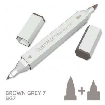 Spectrum noir Illustrator pen BG7- Brown Grey 7