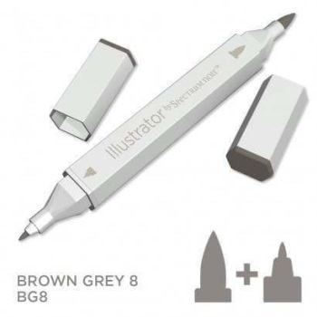 Spectrum noir Illustrator pen BG8- Brown Grey 8