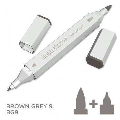 Spectrum noir Illustrator pen BG9- Brown Grey 9
