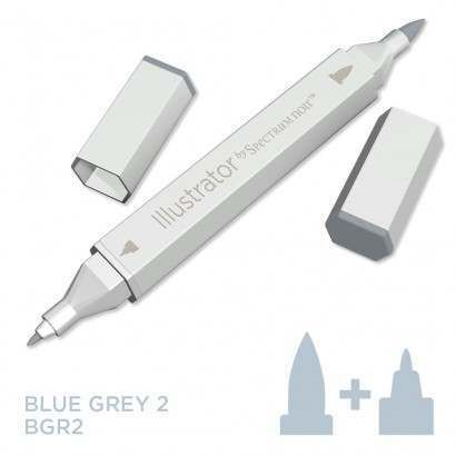 Spectrum noir Illustrator pen BGR2- Blue Grey 2
