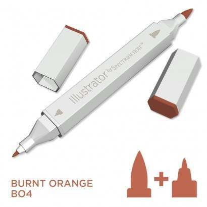 Spectrum noir Illustrator pen BO4 - Burnt Orange