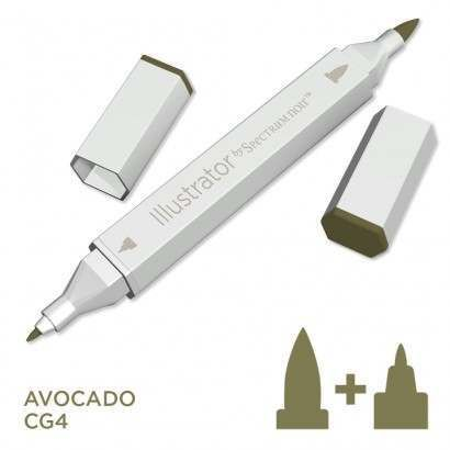 Spectrum noir Illustrator pen CG4 - Avocado