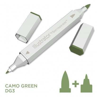 Spectrum noir Illustrator pen DG3 - Camo Green